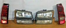 OEM 2004 2005 2006 2007 Chevrolet Silverado SET Left Right Tail Light headlights