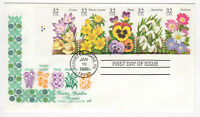 SSS: House Farnam FDC 1996  32c  Winter Garden Flowers  BK5    Sc #3025-29