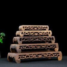 Annatto Display Ständer Holz Schnitzen Podest Rechteckig Buddha Craft Vase Basis