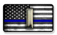 Thin Blue Line Sheriff Police Lieutenant Rank Magnet-Package of Two