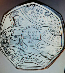 2021 Decimal Day 50p Coin  BU COIN  STUNNING NEW RELEASE IN STOCK NOW FREE POST