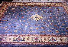 Persian SERAPI Heriz  Handmade Rug 10x14 Lite Blue Gray