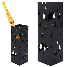 Portaombrelli in Ferro Design BAKAJI1B Quadrato Stand Nero Vaschetta Salvagoccia