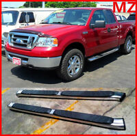 """For 99-16 Ford F250 Crew Cab BLACK OE Style 5/"""" Oval Nerf Bars Pair Set Side Step"""