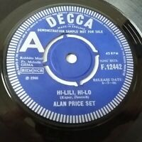 "Alan Price Set - Hi-Lili Hi-Lo / Take Me Home Vinyl 7"" Single Rare 1st Demo"