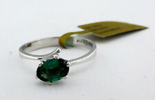 GENUINE 1.36 Carats GREEN TOURMALINE RING 14k WHITE GOLD * Brand New With Tag *