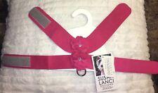 "$82 Susan Lanci Raspberry Tinkie's Garden Harness Size S 12"" - 14"""