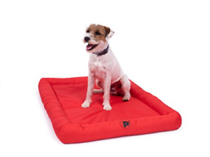 Petface Waterproof Memory Foam Bolster Mat, 69.5 cm, Red