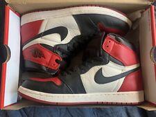 Nike Jordan Air 1 High Bred Toe OG Red Black and White Size 11.5