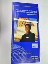 CONTINENTAL AIRLINES TICKET JACKET - UNUSED!