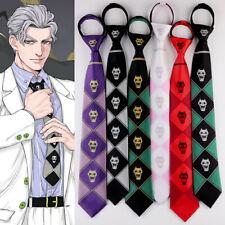 JoJo's Bizarre Adventure KILLER QUEEN Silk KILL A Jacquard  Kira Yoshikage Tie