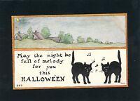 Halloween - M.H.S. Artist Signed Vintage Postcard - Owen