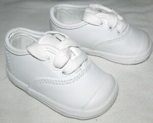 New Keds Champion White Toe Cap Lace Up Sneakers Shoes Infant Boys Girls Size 2