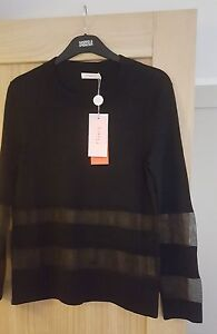 Finery Black long sleeve Top SIZE 10 BNWT SEE INFO Finery Whitby Top rrp£55