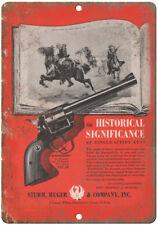 """Sturm Ruger & Company .357 Magnum Blackhawk 10"""" x 7"""" Reproduction Metal Sign"""