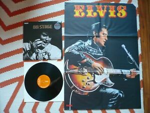 Elvis Presley On Stage February 1970 Vinyl UK RCA 1st Press 1E/2E LP & Poster