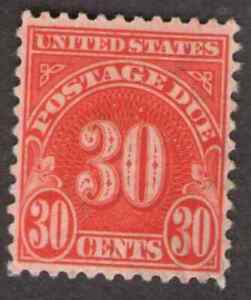 US. J85a.  30c, Postage  Due Stamp, Wet Printing.  MH. 1931