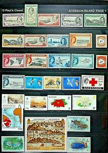 ASCENSION ISLAND 1934-86 MNH & MLH 35 STAMPS~SEE INV LIST AND PHOTOS~VFINE OG
