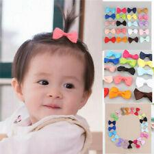 20 PCS Kids Baby Girl Bow Ribbon Hair Bow Mini Latch Clips Hair Hairpins Lot