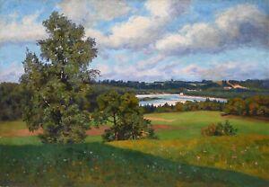 Liska Schroeder *1834 Ölgemälde alt antik Romantik Impressionismus Landschaft