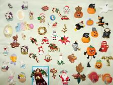 Costume/costume Vintage Assorted HOLIDAY mixed PIN 50+PC costume pin LOT