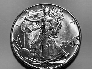 1938-D Walking Liberty Half Dollar * Gem BU *