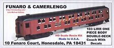 Funaro F&C 103 LONG ISLAND Rr  LIRR DOUBLE DECK COACH Passenger Car 1 Pc TRUCKS