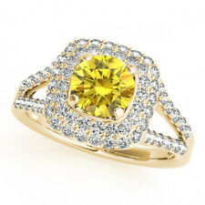 1.18 Carat Canary Yellow Diamond VS2 Beautiful Engagement Ring 14k Gold Gorgeous