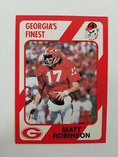 Matt Robinson 1989 Collegiate Collection card UGA Georgia Bulldogs Football NM