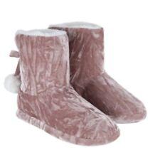 BNWT Monsoon Ladies VICKY VELVET POM POM SLIPPER BOOTS Size L or UK 6, 6.5 or 7