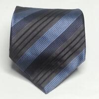 """Banana Republic Men Dress Tie 3.75"""" Wide 57"""" Long Blue Stripes Gray Turkey"""