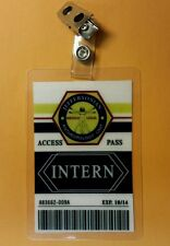 Bones Jeffersonian TV ID Badge-Intern costume prop cosplay
