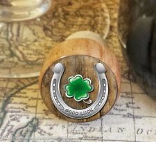 Wine Stopper, Good Luck Horseshoe Handmade Wood Bottle Stopper, St. Patrick's
