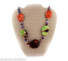 Cowgirl Bling Multicolor Magnesite Nugget Gemstone Necklace A74a2 Reiki Jewelry