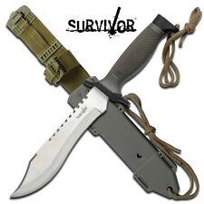 KNIFE COLTELLO DA CACCIA SURVIVOR 60S SOPRAVVIVENZA SURVIVAL CAMPING STILE RAMBO