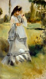 Woman in a Park by Pierre-Auguste Renoir 60cm x 35cm Art Paper Print