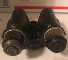 Antique Pre WWII Huet Paris French Binoculars Tank Spotter World War 2