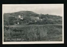 Somerset BRENT KNOLL Panoramic view Unposted vintage RP PPC by Nelson Horton