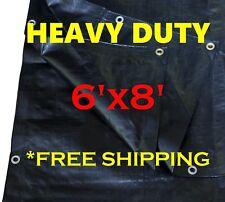 Tarps Ft. Heavy Duty Oz. Black Poly Tarp 11-12 Mil Thick