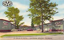 Colorado Springs Colorado~J's Drive-In Motel c1950 Postcard