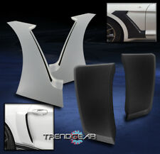 2015-2017 FORD MUSTANG GT-STYLE FRONT+REAR SIDE HOOD DOOR FENDER SCOOP VENT TRIM