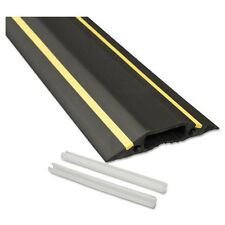 Medium-Duty Floor Cable Cover- 3 1/4 X 1/2 X 6 Ft- Black With Yellow Stripe