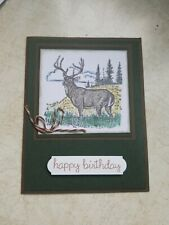 Happy Birthday handmade greeting card and envelope Stampin' Up!