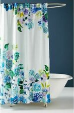 Anthropologie Sarah Hankinson Pansies Shower Curtain ~ Watercolor Modern Floral