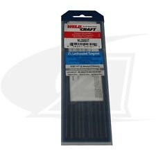 "Weldcraft Brand 2% Lanthanated Tungsten Electrodes: 3/32"" x 7"" (10 pack)"