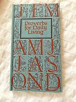 BIBLE STUDY VTG Mcm PROVERBS FOR DAILY LIVING BY MONTH NOS, ORIGINAL BOX 1968