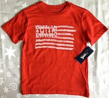 BNWT BOYS GENUINE POLO RALPH LAUREN RED FLAG GRAPHIC T SHIRT AGED 4 YEARS