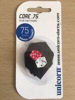 Set of 3 Dice 75 Micron Dart Flights by Unicorn Standard Shape Free P&P
