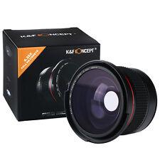 58mm 0.35x FULL HD MC Wide Angle Fisheye Macro Lens + Microfiber Cloth for Canon