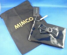 BRAND WITH TAGS MIMCO SMALL MIM BOW POUCH BLACK PATENT LEATHER